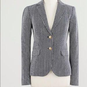 J Crew Schoolboy blazer in Morse code jacquard
